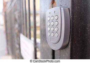 apartment security lock - Closeup apartment security lock