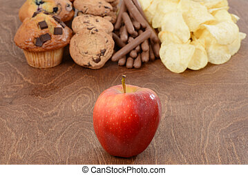 Apple healthy eating concept
