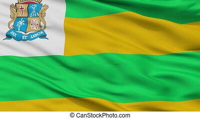 Closeup Aracaju city flag, Brasil - Aracaju closeup flag,...