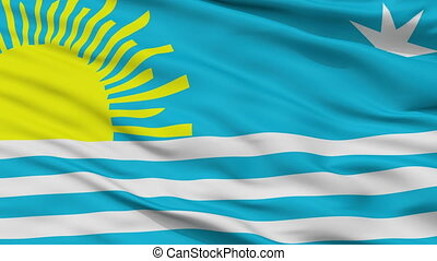 Closeup Araure city flag, Venezuela - Araure closeup flag,...