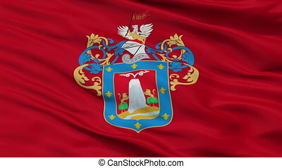 Closeup Arequipa city flag, Peru - Arequipa closeup flag,...