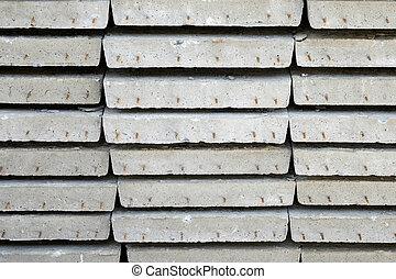 arrange of cement sheet