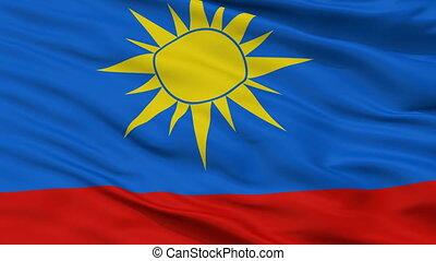 Closeup Artyom city flag, Russia - Artyom closeup flag, city...