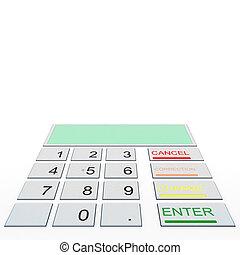 Closeup ATM buttons