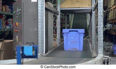 Closeup automatic conveyor