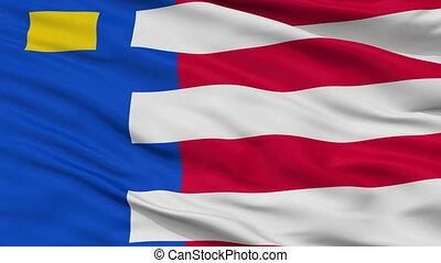 Closeup Baarle Nassau city flag, Netherlands - Baarle Nassau...