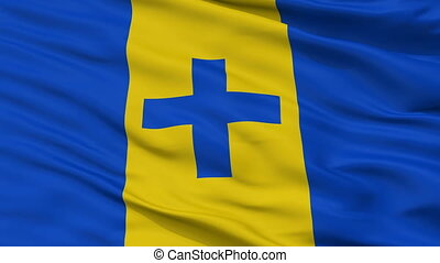Closeup Baarn city flag, Netherlands - Baarn closeup flag,...
