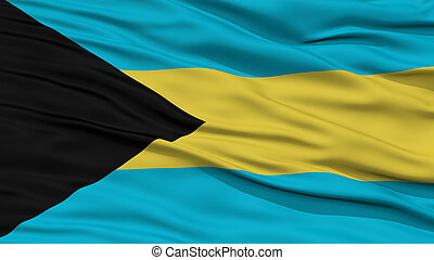 Closeup Bahamas Flag