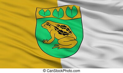 Closeup Balozi city flag, Latvia - Balozi closeup flag, city...