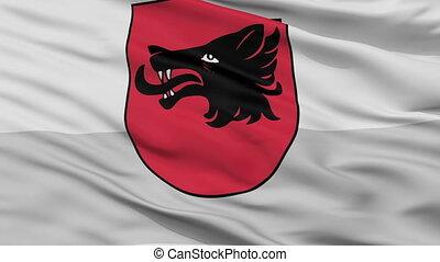 Closeup Balvi city flag, Latvia - Balvi closeup flag, city...