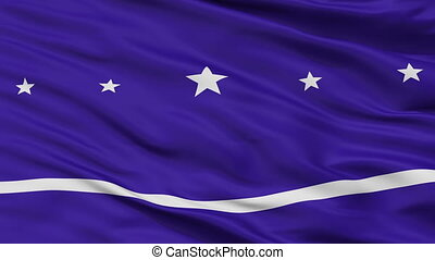 Closeup Banderario city flag, Argentina