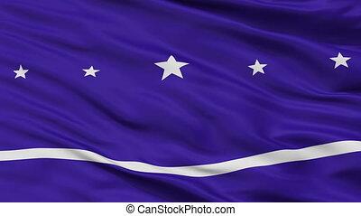 closeup, banderario, stad, vlag, argentinië