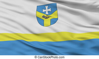 Closeup Baran city flag, Belarus - Baran closeup flag, city...