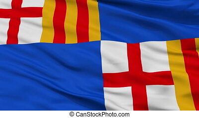 Closeup Barceloneta city flag, Puerto Rico - Barceloneta...