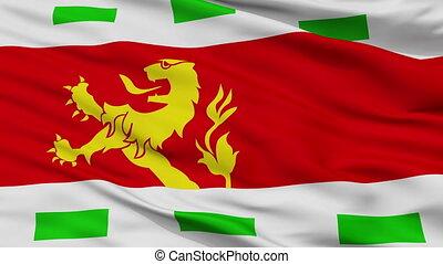 Closeup Barendrecht city flag, Netherlands - Barendrecht...