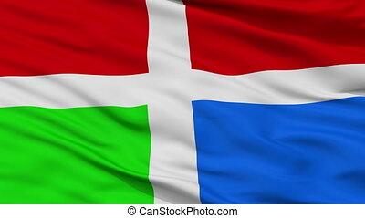 Closeup Barinas city flag, Venezuela - Barinas closeup flag,...
