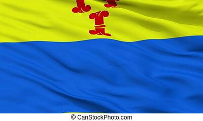 Closeup Barneveld city flag, Netherlands - Barneveld closeup...