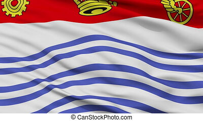 Closeup Barrie city flag, Canada - Barrie closeup flag, city...