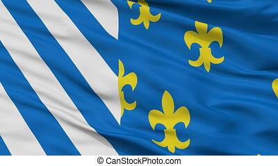 Closeup Bellingwedde city flag, Netherlands - Bellingwedde...