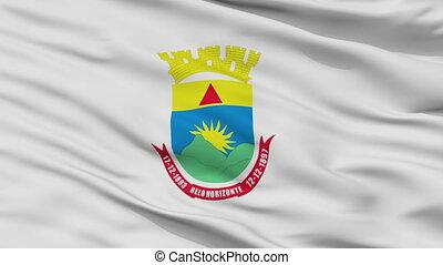 Closeup Belo Horizonte city flag, Brasil - Belo Horizonte...