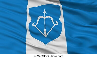 Closeup Berastre city flag, Belarus - Berastre closeup flag,...