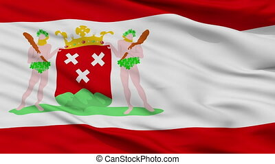 Closeup Bergen op Zoom city flag, Netherlands - Bergen op...