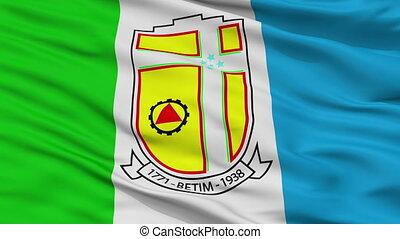 Closeup Betim city flag, Brasil - Betim closeup flag, city...