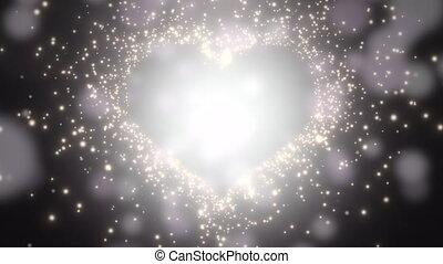 Closeup black hearts of love, wedding background