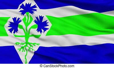 Closeup Blaricum city flag, Netherlands - Blaricum closeup...