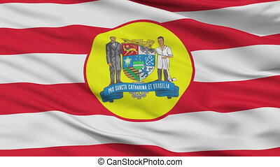 Closeup Blumenau city flag, Brasil - Blumenau closeup flag,...
