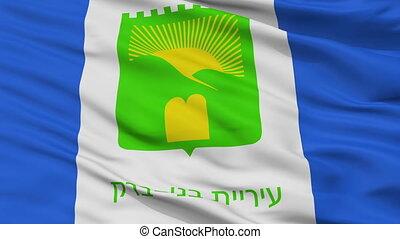 Closeup Bnei Brak city flag, Israel - Bnei Brak closeup...