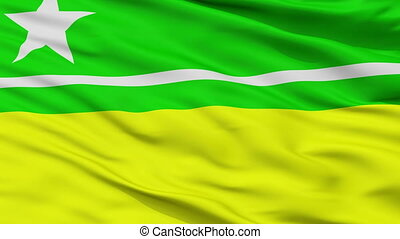 Closeup Boa Vista city flag, Brasil - Boa Vista closeup...