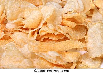 closeup, bollitore, patatine fritte