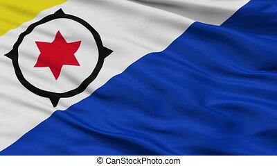 Closeup Bonaire city flag, Netherlands - Bonaire closeup...