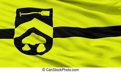 Closeup Borger Odoorn city flag, Netherlands - Borger Odoorn...