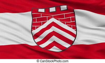 Closeup Borgholzhausen city flag, Germany - Borgholzhausen...
