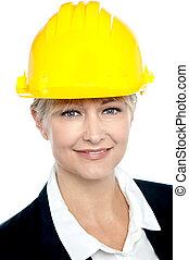 closeup, bouwsector, grit, tijdgenoot, ingenieur