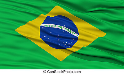 Closeup Brazil Flag