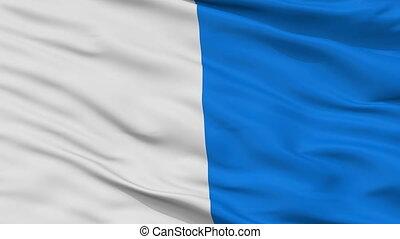 Closeup Brescia city flag, Italy - Brescia closeup flag,...