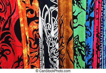 Closeup Bright Fabrics