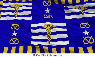 Closeup Brisbane city flag, Australia - Brisbane closeup...