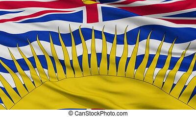 Closeup British Columbia city flag, Canada - British...
