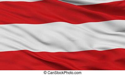 Closeup Brno city flag, Czech Republic - Brno closeup flag,...