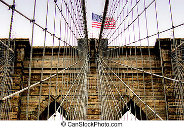 Brooklyn bridge - closeup Brooklyn bridge