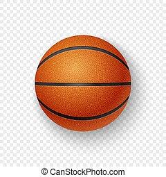 closeup, bruine , basketbal, doorzichtigheid, classieke, mockup., grafiek, vrijstaand, 3d, realistisch, vector, ontwerp, achtergrond., mal, oranje net, pictogram, hoogste mening