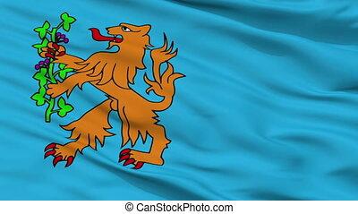 Closeup Brummen city flag, Netherlands - Brummen closeup...