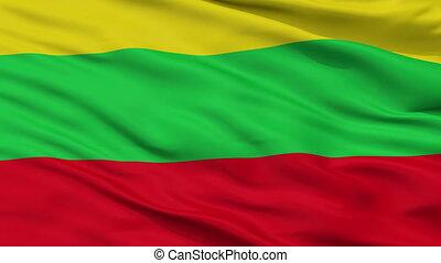 Closeup Buga city flag, Colombia - Buga closeup flag, city...