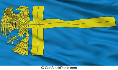 Closeup Bunschoten city flag, Netherlands - Bunschoten...