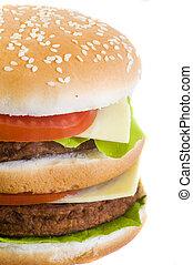 closeup burger