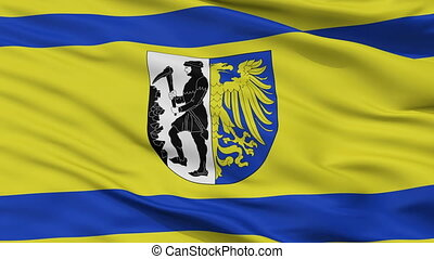 Closeup Bytom city flag, Poland - Bytom closeup flag, city...